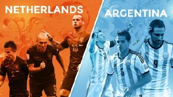 Netherlands vs Argentina in the semifinals