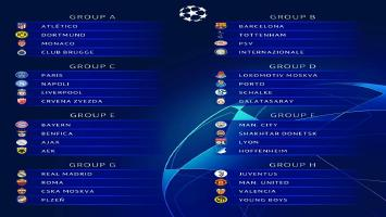The official 2018/19 UEFA Champions League Group Stage draw