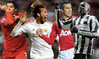 top scorers premier league 2012 13